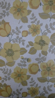 vintage floral wallpaper yellow brown