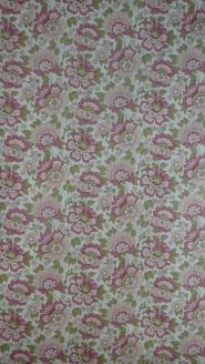 vintage floral wallpaper pink green