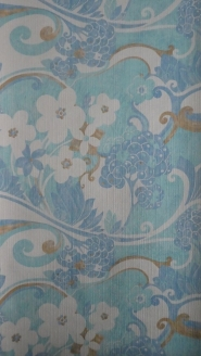 vintage floral wallpaper blue white