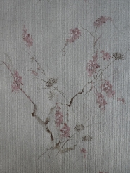 vintage floral wallpaper pink brown