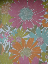 vintage floral wallpaper multicolor
