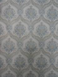 blue grey damask vintage wallpaper