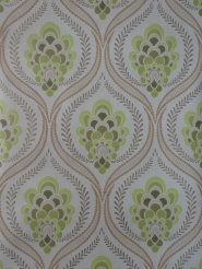 green damask vintage wallpaper