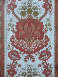 vintage damask wallpaper red
