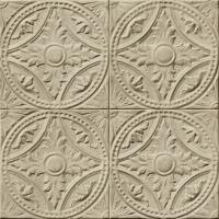 Tin tiles imitation wallpaper beige