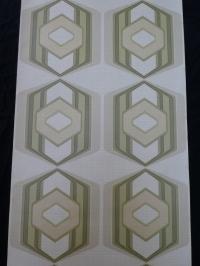 green geometric vintage wallpaper