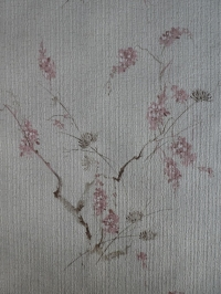 vintage floral wallpaper pink brown