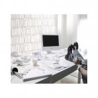 White bookshelve wallpaper